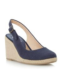 Dune | Natural Karley Espadrille Slingback Wedge Sandals | Lyst