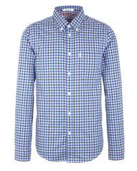 Ben Sherman | Blue House Gingham Check Long Sleeve Shirt for Men | Lyst
