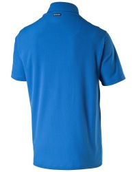 PUMA - Blue Essential Polo for Men - Lyst