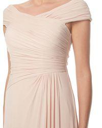 Anoushka G - Pink Mary Mesh Maxi Rushed Dress - Lyst