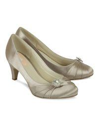Paradox London Pink Metallic Harmony Round Toe Court Shoes