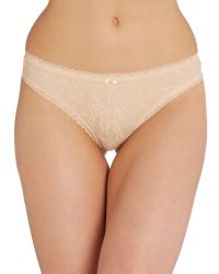 DKNY - Pink Signature Lace Thong - Lyst