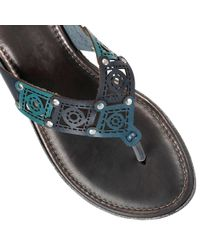 Lotus - Blue Scorch Toe Post Sandals - Lyst