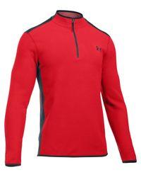 Under Armour | Red Survival Fleece 1/4 Zip for Men | Lyst