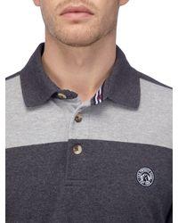 Tog 24 - Gray Bennett Stripe Mens Polo Shirt for Men - Lyst
