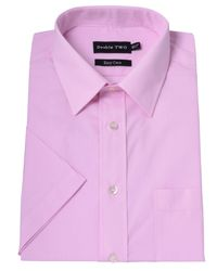 Double Two | Pink Plain Classic Fit Short Sleeve Shirt for Men | Lyst