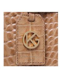 Kurt Geiger Natural Croc London Tote Bag