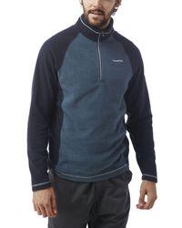 Craghoppers Blue Union Half Zip Fleece for men
