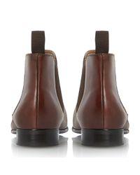 Dune - Brown Mister Smart Leather Chelsea Boot for Men - Lyst