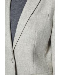 French Connection - Gray Milo Melton Coat - Lyst