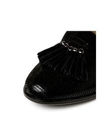 Moda In Pelle Black Franza Low Smart Shoes