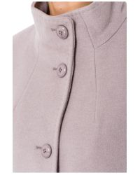 Basler Gray Wool Coat With Cashmere