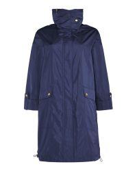 Ellen Tracy | Blue Packaway Parka Jacket | Lyst