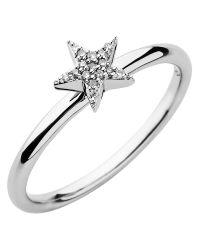 Links of London | Metallic Diamond Essentials White Pave Star Ring | Lyst