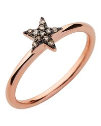 Links of London | Pink Diamond Essentials Rose Gold Star Ring | Lyst