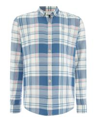 Duck and Cover | Blue Huffman Ls Shirt for Men | Lyst
