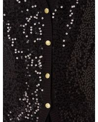 Biba Black Fully Sequin Button Up Cardigan