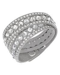 Swarovski   Metallic Crystal Double Wrap Bracelet   Lyst