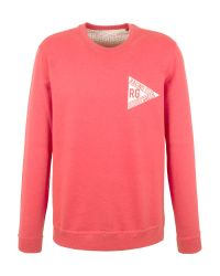Racing Green | Red Evans Washed Logo Sweatshirt for Men | Lyst
