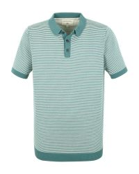 Racing Green | Green Cooper Knitted Short Sleeve Polo for Men | Lyst