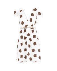 Relish - White Draped Dress - Lyst