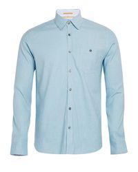 Ted Baker Blue Newline Stretch Linen Shirt for men