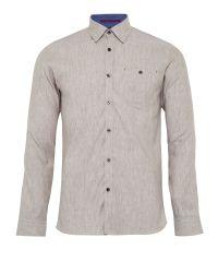 Ted Baker Natural Newline Stretch Linen Shirt for men