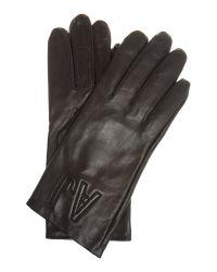 Armani Jeans Black Logo Gloves