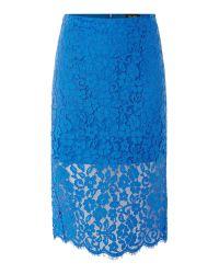 Bardot | Multicolor Lace Bodycon Pencil Skirt | Lyst
