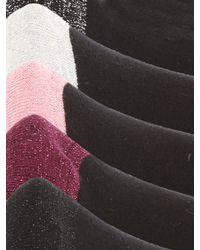 Jane Norman | Black 5pk Socks | Lyst