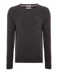 Tommy Hilfiger | Black Original Cotton Blend Sweater for Men | Lyst