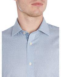 Ted Baker - Blue Elsu Spot Shirt for Men - Lyst
