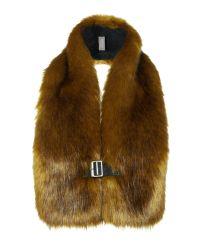 Helen Moore | Green Buckle Tippet Faux Fur Scarf | Lyst