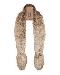 Helen Moore Natural Faux Fur Slim Vixen Scarf