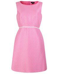 Tahari   Pink Fit And Flare Dress   Lyst