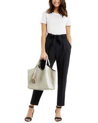 Oasis Blue Stripe Peg Trouser