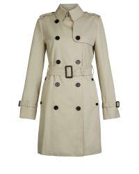 Aquascutum | Natural Franca Double Breasted Coat | Lyst