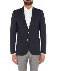 PS by Paul Smith Blue Navy Blazer With Metal Buttons for men