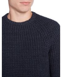 Criminal Blue Trystan Textured Crew Knit for men