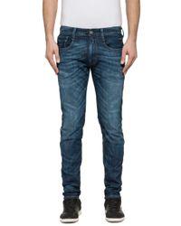 Replay Blue Jeans Jondrill Skinny Fit Stretch Dark 3d Wash for men