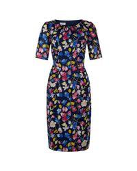 Hobbs | Black Hobbs Bewes Floral Dress, Multi | Lyst