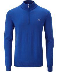 J.Lindeberg | Blue Kian Tour Merino Jumper for Men | Lyst