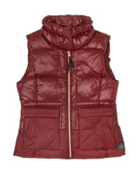Calvin Klein | Red Oona Down Fitted Vest | Lyst