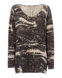 Label Lab | Gray Albany Charcoal Cactus Print Jumper | Lyst