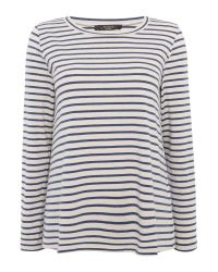 Max Mara | Blue Occhio Longsleeve Jersey Striped Top | Lyst
