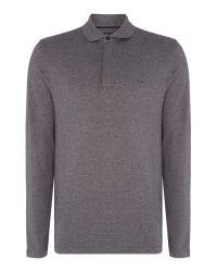 Michael Kors   Gray Slim Fit Sleek Zip Collar Long Sleeve Polo for Men   Lyst