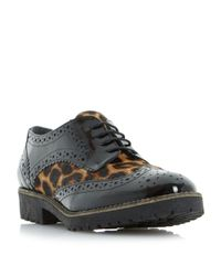 Dune | Black Faune Cleat Sole Lace Up Shoes | Lyst