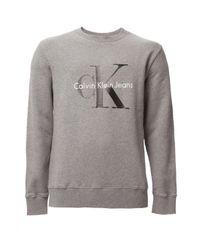 Calvin Klein | Gray Crew Neck Hwk True Icon Sweatshirt for Men | Lyst