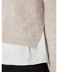Bardot - Natural Long Sleeved Roll Neck Jumper With Shirt - Lyst