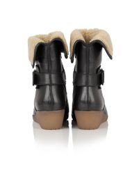 Lotus Black Madara Leather Ankle Boots